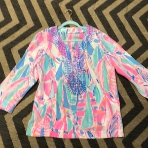 New Lilly Pulitzer silk tunic large